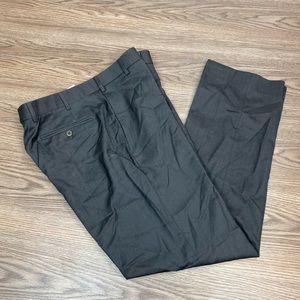 Zanella Charcoal Grey Flat Front Dress Pants 33x32